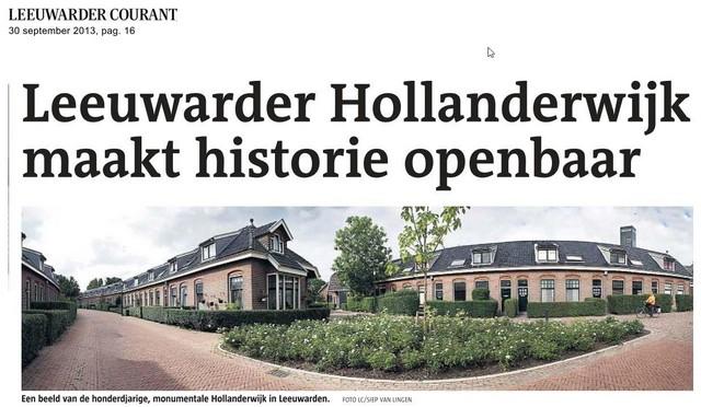 Artikel Leeuwarder Courant 30 september 2013